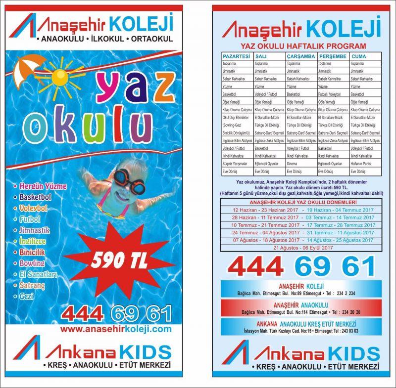 Etimesgut Yaz Okulu Programı